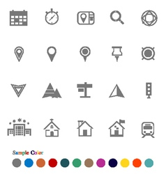 Collection Icons set Location Icons vector image