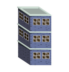Colorful image realistic building with brick vector