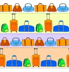Colorful travel bags striped seamless pattern vector