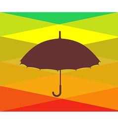 Colorful umbrellas vector