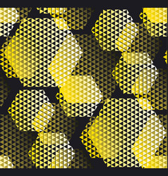 concept modern geometry pattern with yellow and vector image