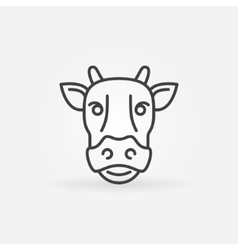 Cow line icon vector