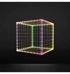 Cube Molecular lattice Connection structure 3d vector