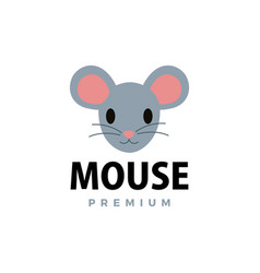cute mouse flat logo icon vector image