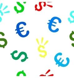 Dollar Shine Seamless Flat Pattern vector image