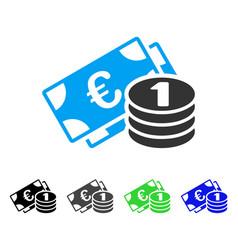 Euro cash flat icon vector