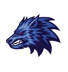 furious wolf logo design concept vector image
