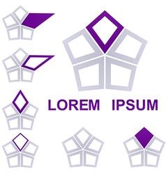 Geometric Hexagon Logo Set vector