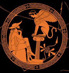 greek drawing vector image