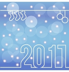 happy new 2017 with bokeh and flare vector image