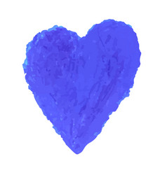 heart shape drawn with blue vector image