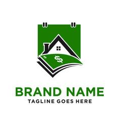 Home loan calendar logo vector