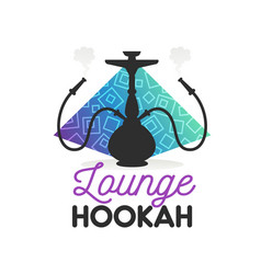 hookah lounge bar or shisha smoking club icon vector image