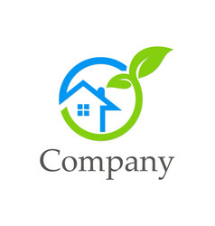House ecology environment company logo vector