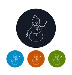 Icon of a Christmas Snowman vector image