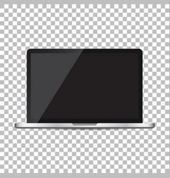 laptop with black screen flat icon computer on vector image
