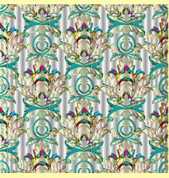 Light colorful baroque seamless pattern vector