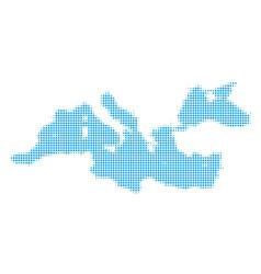 Mediterranean sea map halftone icon vector