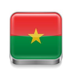 Metal icon of Burkina Faso vector image