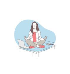 mindfulness meditation mental health concept vector image