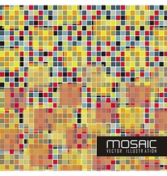 mosaic of colored squares vector image