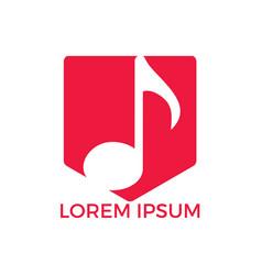 music logo musical key note template logo vector image