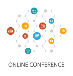 online conferencepresentation template cover vector image