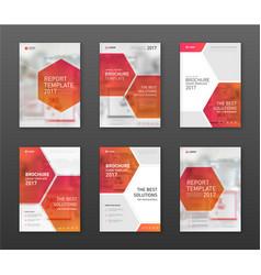 Pharmaceutical brochure cover templates set vector