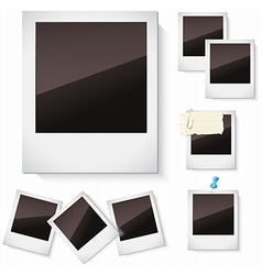 Photo frames isolated over white vector