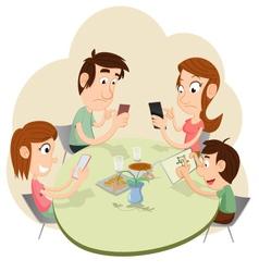 Phubbing family vector