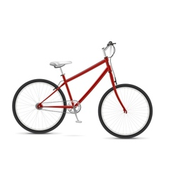 Red Bike vector image