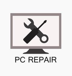 repair computer vector image