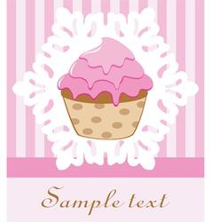retro cupcake vector image vector image