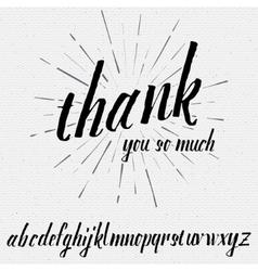 Script lettering font handwritten calligraphic vector image