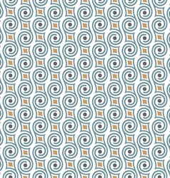 Seamless retro pattern with swirls vector
