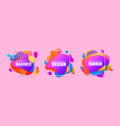 set abstract modern banners vector image