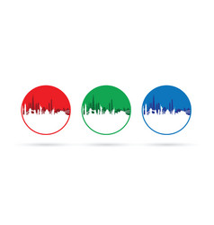 set of three cityscapes vector image
