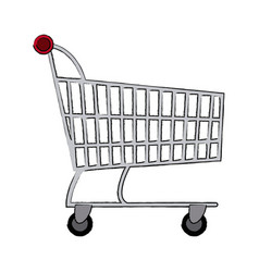 Shopping cart market digital online concept vector