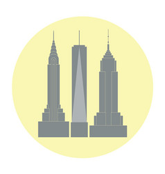 skycrapers of new york city vector image