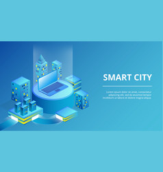 Smart city infrastructure vector