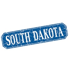 South Dakota blue square grunge retro style sign vector