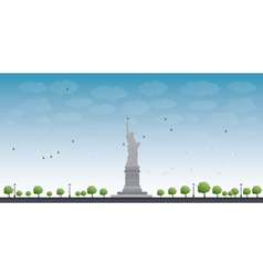 Statue liberty new york vector
