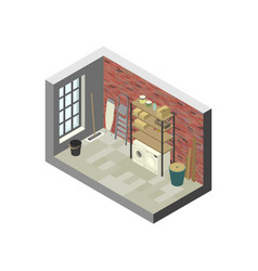 Storeroom in isometric view vector