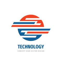 Technology logo concept design abstract vector