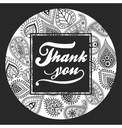 Thank You handmade lettering vector