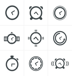 Time Clock Icons Set Design vector image