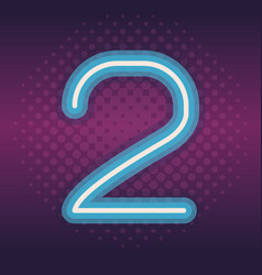 Two font number neon vector