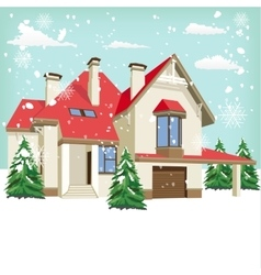 typical American home in winter vector image