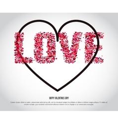 VAlentine Hearts Background 1 vector image