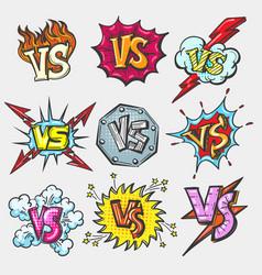 Versus doodle patch set vector